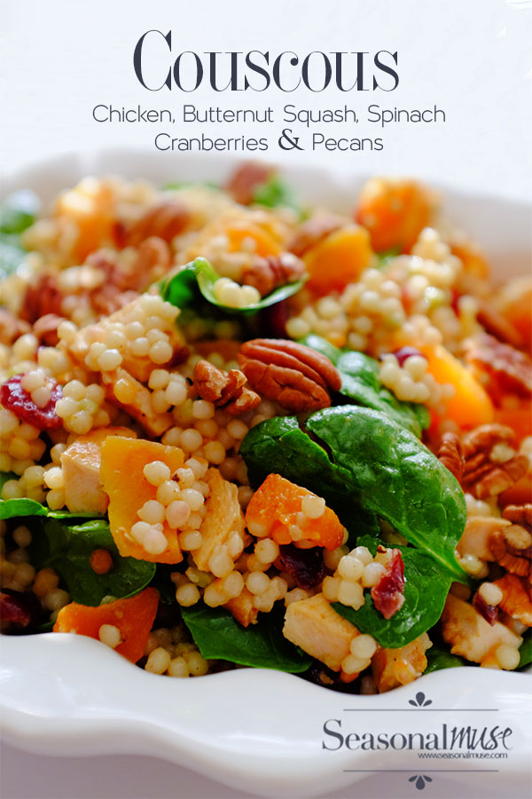 Couscous with Chicken, Butternut Squash & Spinach | Seasonal Muse